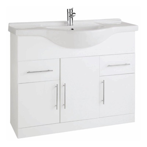 The Impakt 1050mm Cabinet With Basin From Kartell