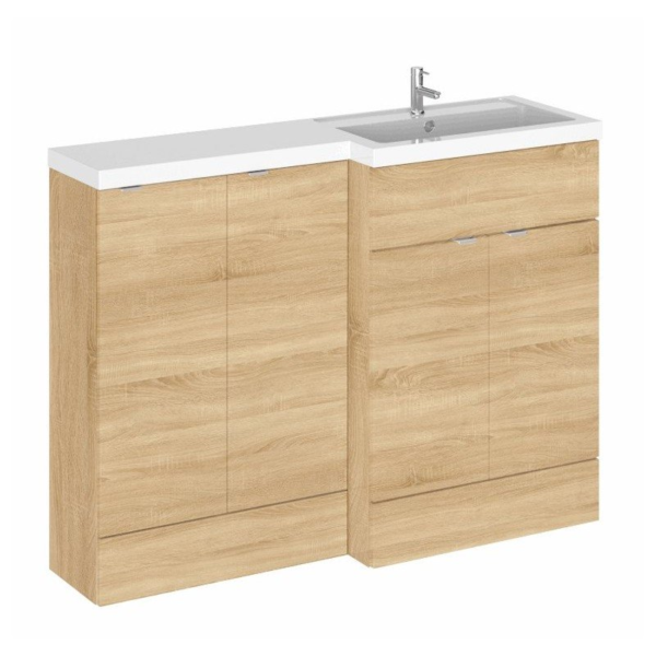 The Fusion Combinations 1200mm Slimline 1 Unit From Hudson Reed