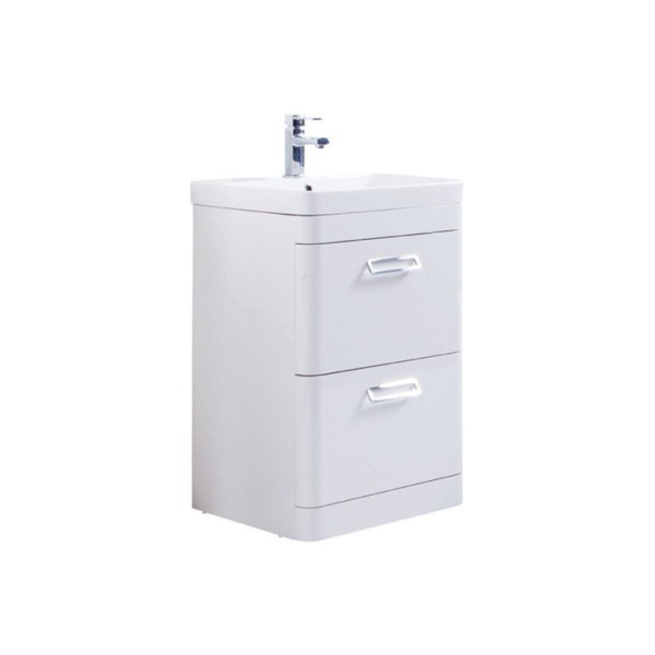 The Metro 500mm Floor Standing Drawer Unit With Ceramic Basin From Kartell