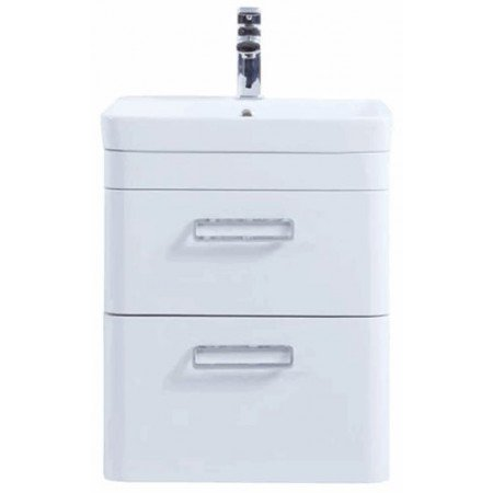 The Metro 500mm Wall Hung Drawer Unit With Ceramic Basin From Kartell