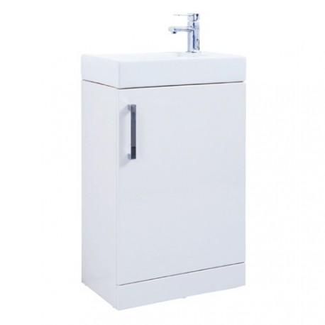 The Liberty 550mm Floor Standing Unit With Ceramic Basin From Kartell