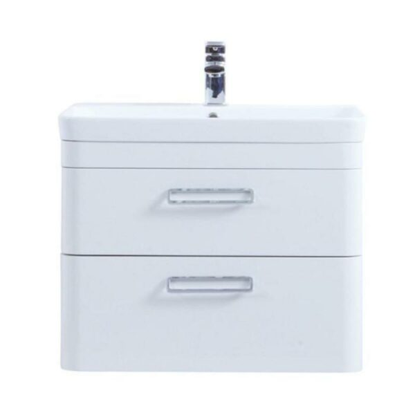 The Metro 800mm Wall Hung Drawer Unit With Ceramic Basin From Kartell