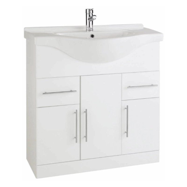 The Impakt 850mm Cabinet With Basin From Kartell