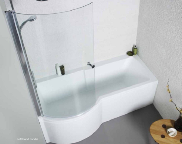 The Adapt P Shaped Shower Bath From kartell Bathrooms