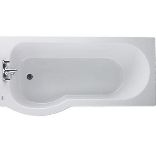 The Galerie Offset Shower Bath From Twyford Bathrooms