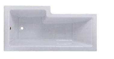 L-Shaped Shower Bath From Pure Bathrooms