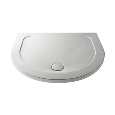 Pearlstone D shaped shower tray