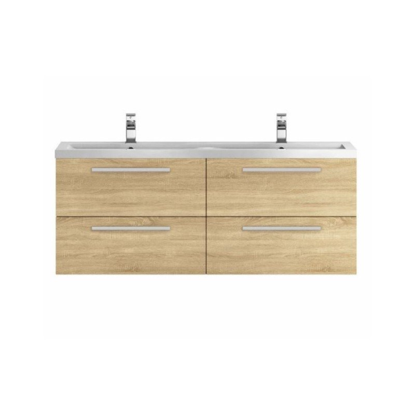 The Quartet Wall Hung 1440mm Double Cabinet And Basin From Hudson Reed