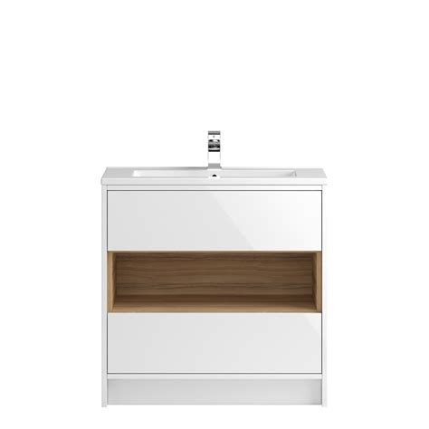 The Coast Free Standing 800mm Cabinet From Hudson Reed