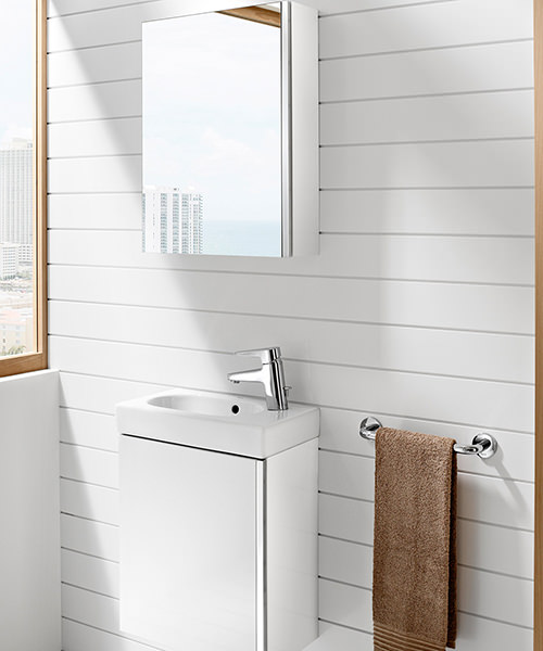 The Roca Mini Bathroom Set With Cabinet From Pure