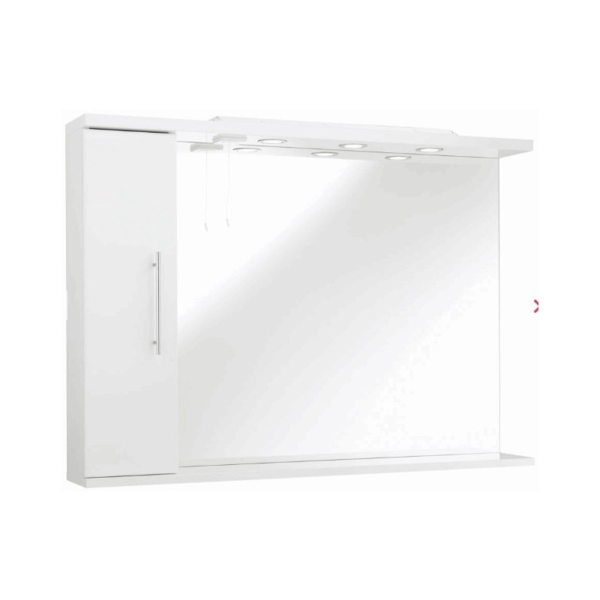 The Impakt Mirror With Side Cabinet And Lights From Kartell