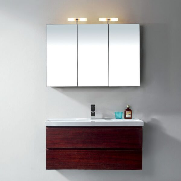 The Fusion Adagio Mirrored Cabinet With Light From Pure