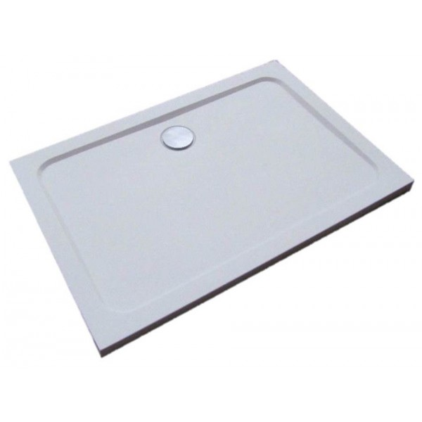 Pearstone Rectangle Shower Tray With Central Waste From Ultra