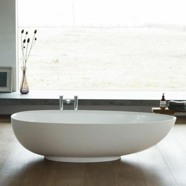 The Clear Water Teardrop Bath From Pure Bathrooms