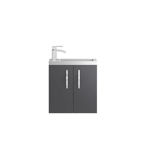 Apollo Compact Wall Hung 500mm Cabinet From  Hudson Reed