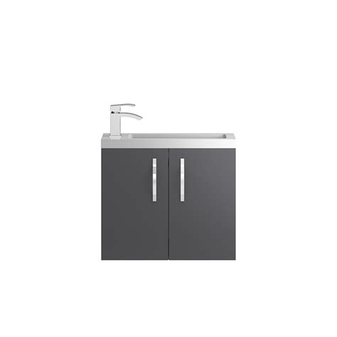 Apollo Compact Wall Hung 600mm Cabinet From Hudson Reed