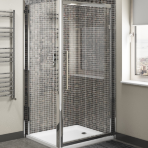 800mm Hinged Shower Door
